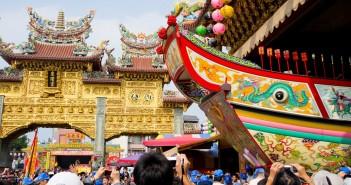【屏東活動】2012 東港迎王平安祭典 》王船出廠儀式 2