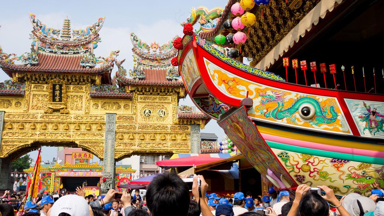 【屏東活動】2012 東港迎王平安祭典 》王船出廠儀式