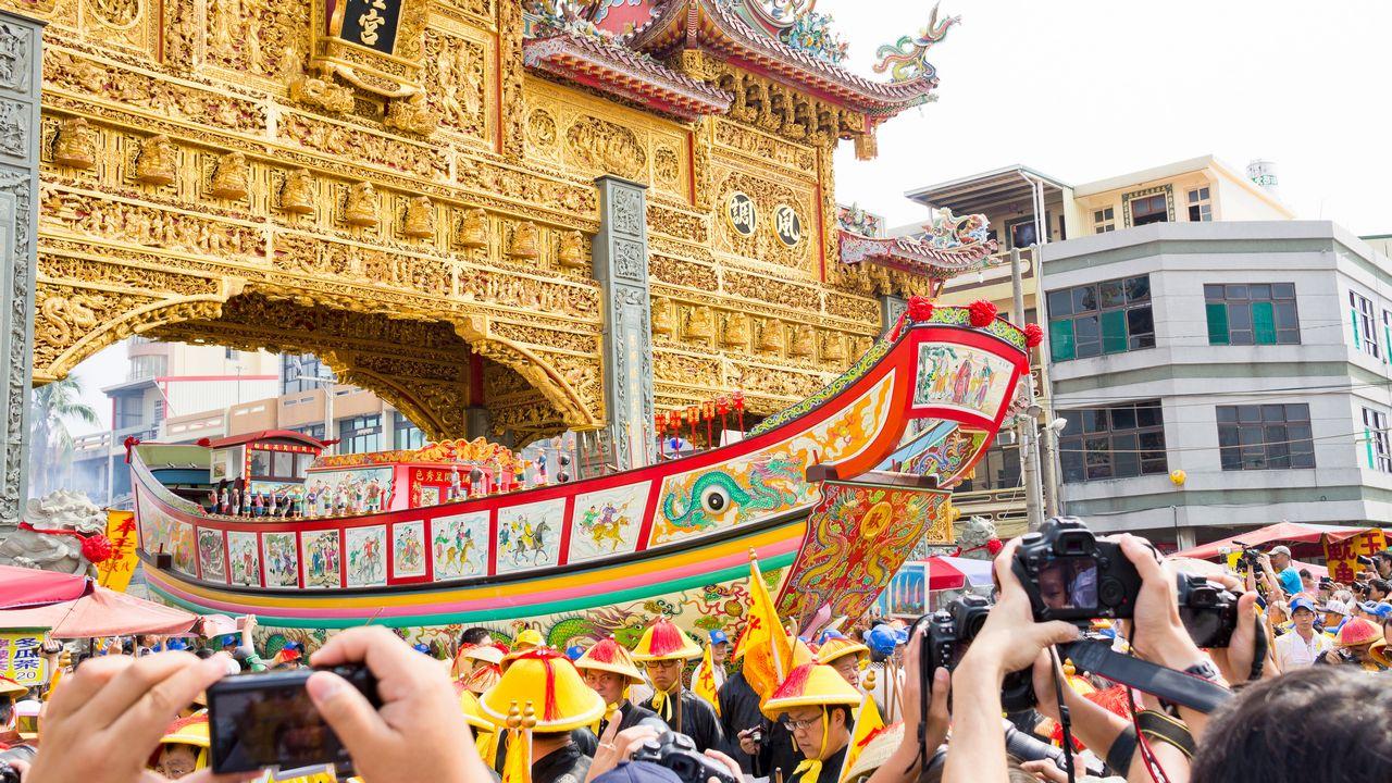 【屏東活動】2012 東港迎王平安祭典 》遷船 王船遶境(上)