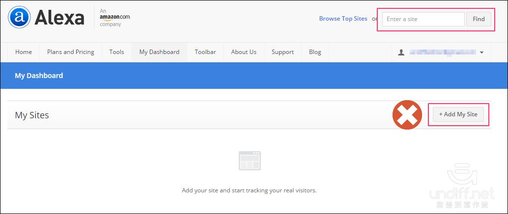 加入網站到 Alexa 排名