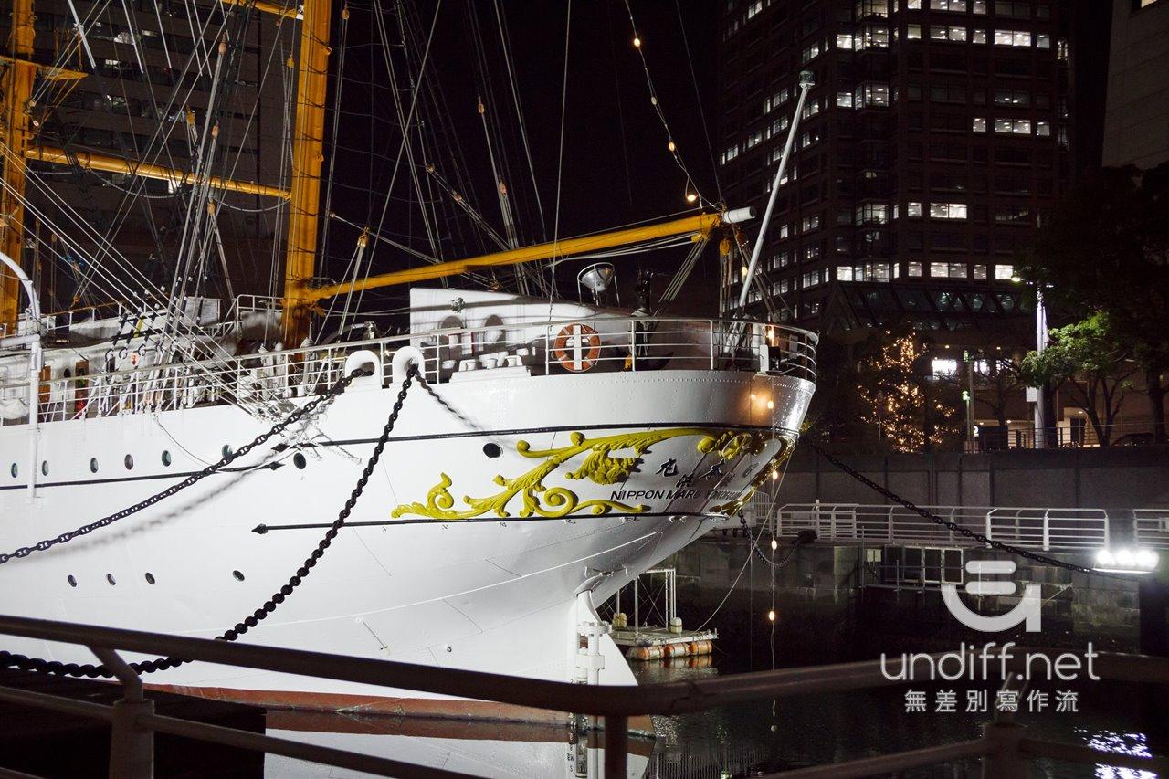 【橫濱景點】橫濱港 夜景 》Landmark Tower 大樓、日本丸帆船、Cosmo World 摩天輪