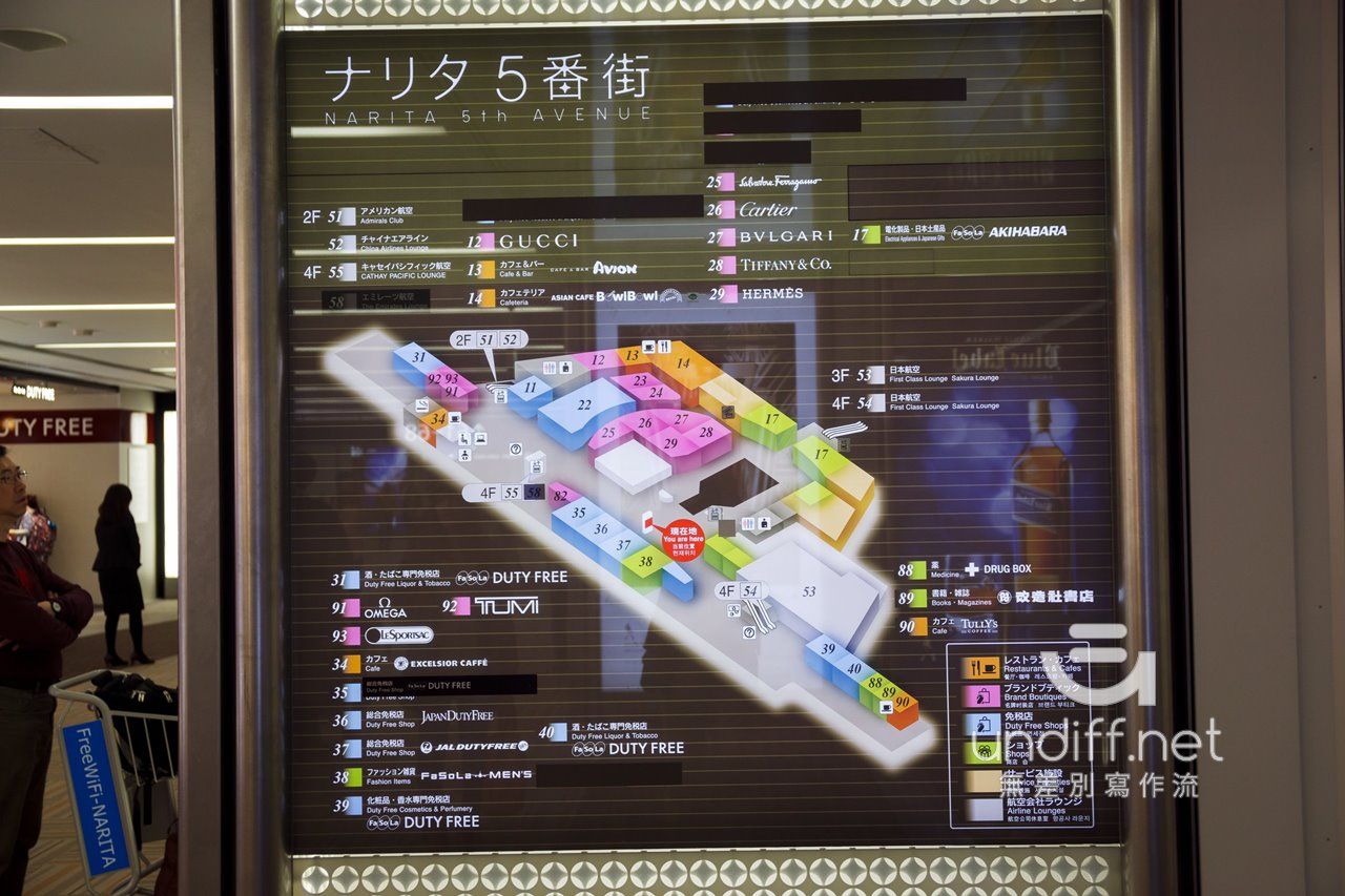 【東京購物】成田機場 二航廈 5番街 》出境後免稅商店區.知名伴手禮一次購足 82
