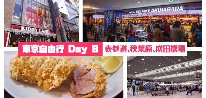 【日本旅遊】2015 東京自由行 Day 8:表參道、秋葉原、成田機場