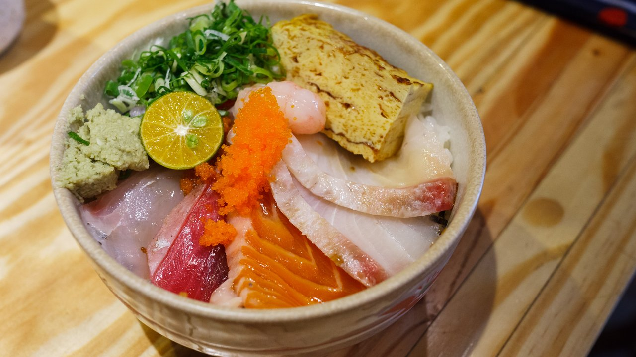 【台北美食】內湖 瞞著爹 內湖店 》美味新鮮又划算的生魚丼飯 海鮮丼飯專賣 1