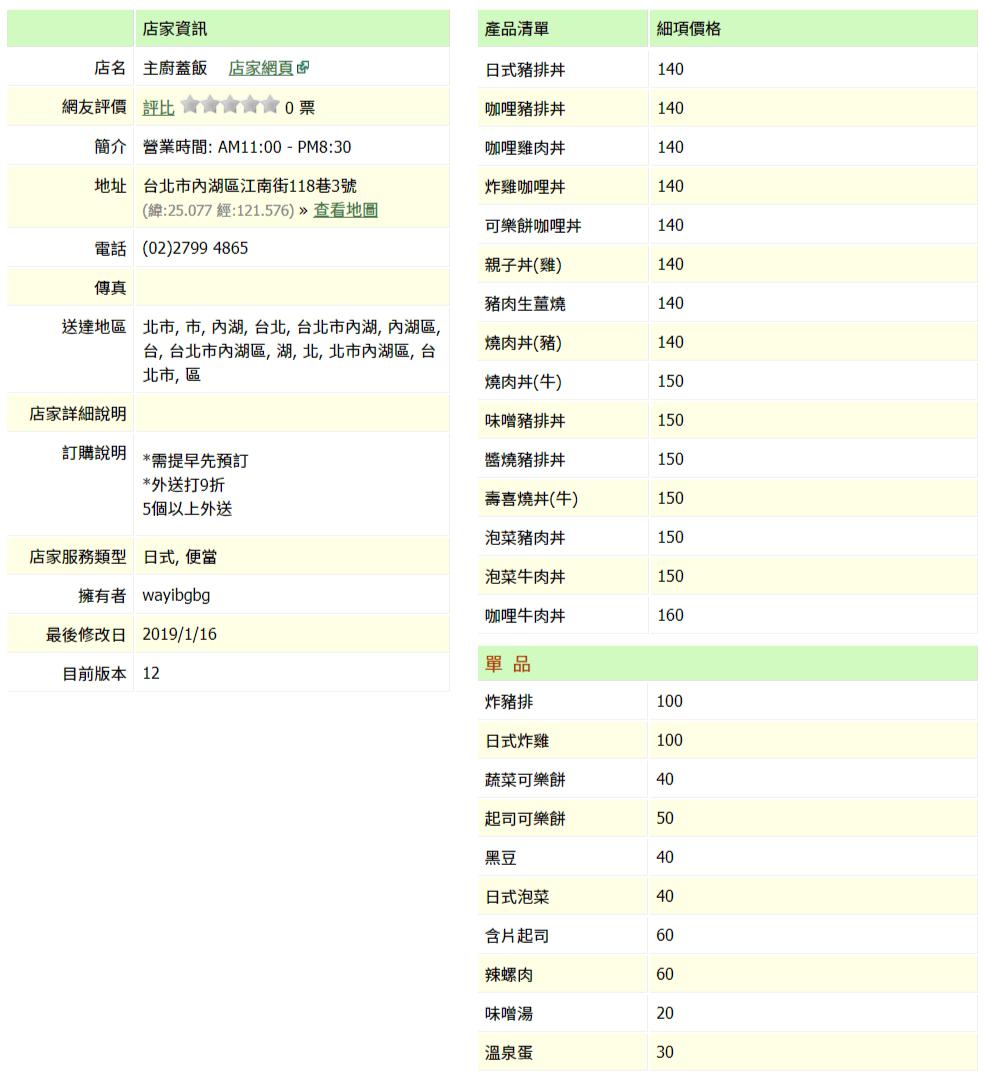 【內湖 訂便當日記】主廚蓋飯 2