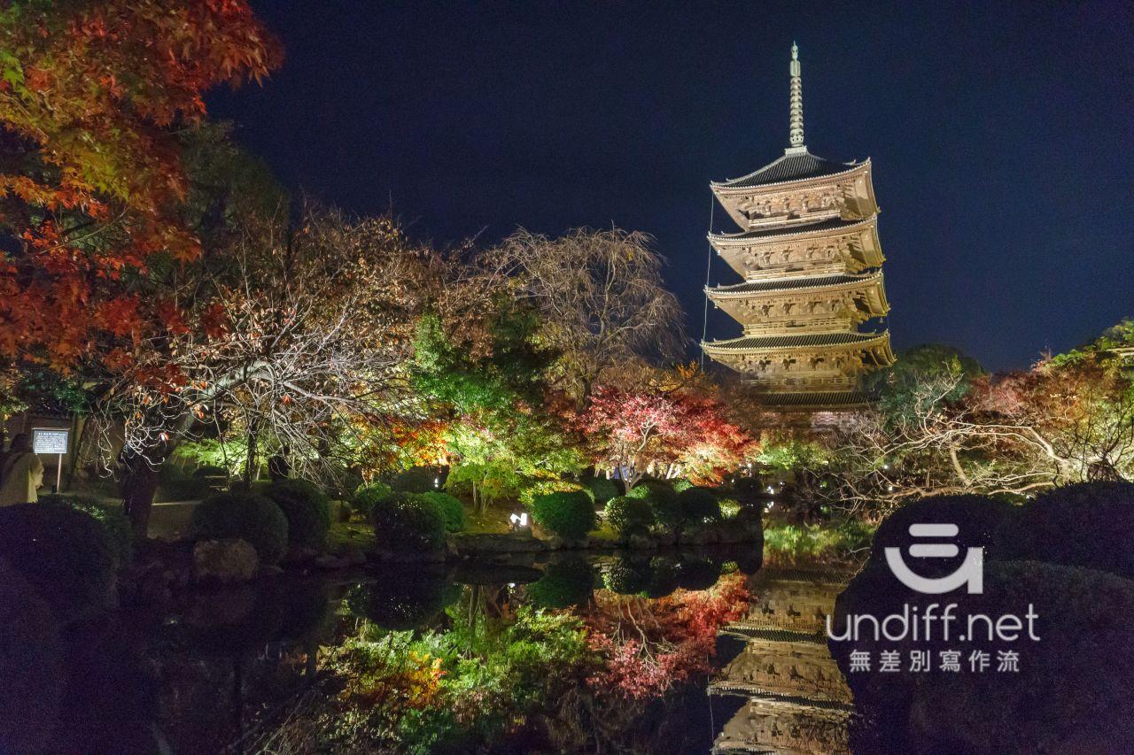 【京都賞楓景點】東寺 夜楓 》紅葉相伴絕美五重塔倒影 48