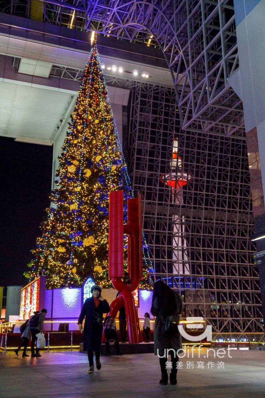 【京都景點】京都車站 聖誕燈飾 》車站中的聖誕樹與光之階梯 4
