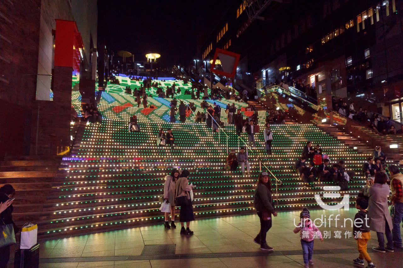 【京都景點】京都車站 聖誕燈飾 》車站中的聖誕樹與光之階梯 16