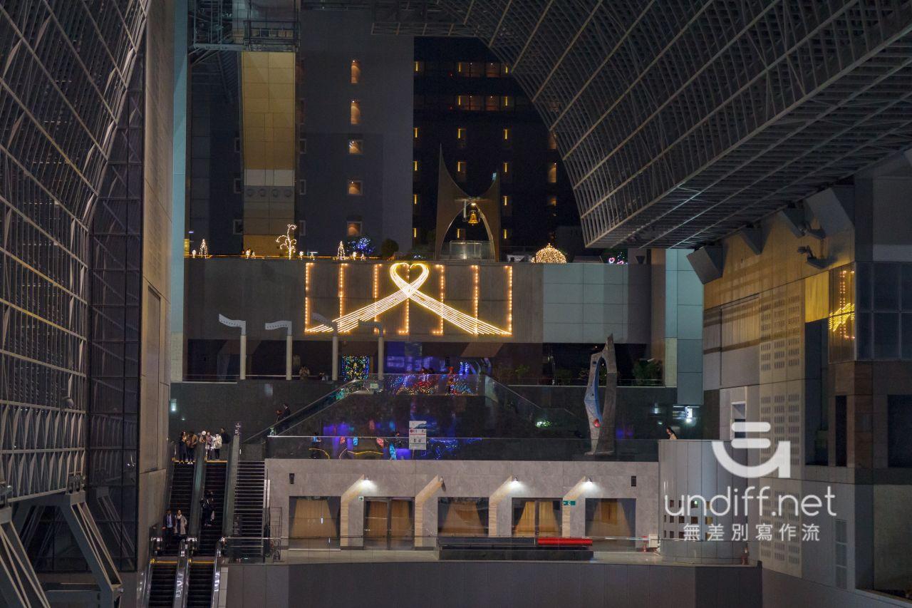 【京都景點】京都車站 聖誕燈飾 》車站中的聖誕樹與光之階梯 38