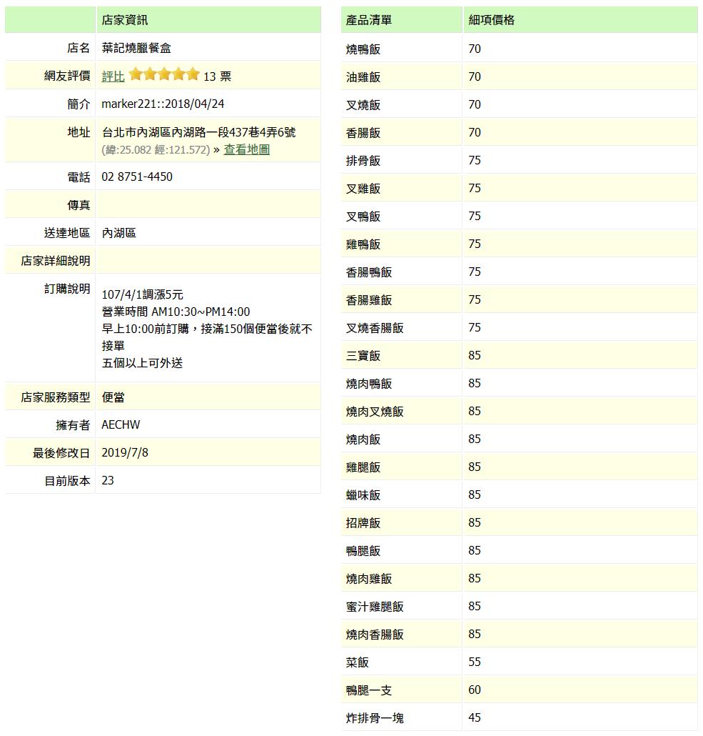 【內湖 訂便當日記】葉記燒臘 2