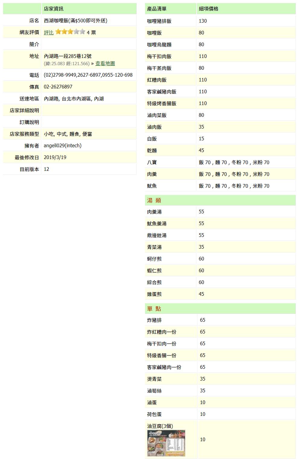 【內湖 訂便當日記】西湖咖哩飯 2