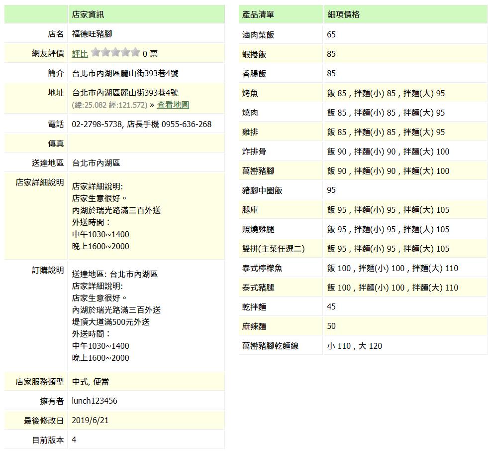 【內湖 訂便當日記】福德旺豬腳 2