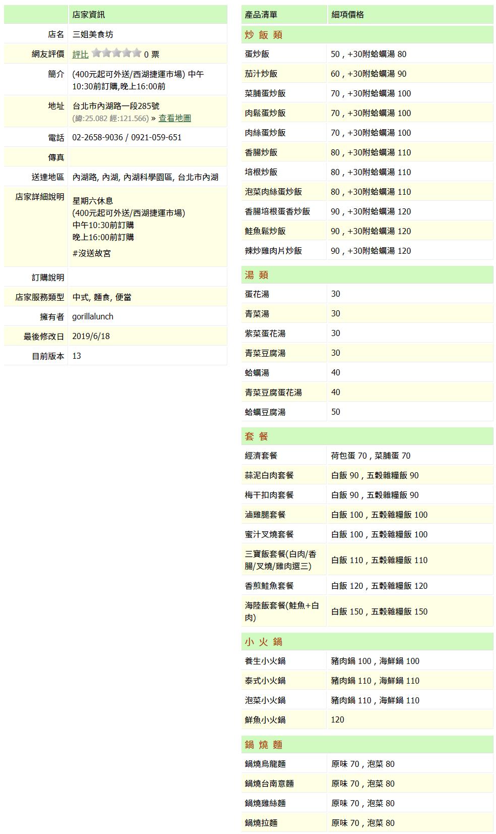 【內湖 訂便當日記】三姐美食坊 2