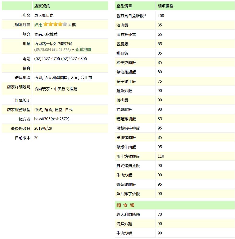 【內湖 訂便當日記】東大虱目魚 2
