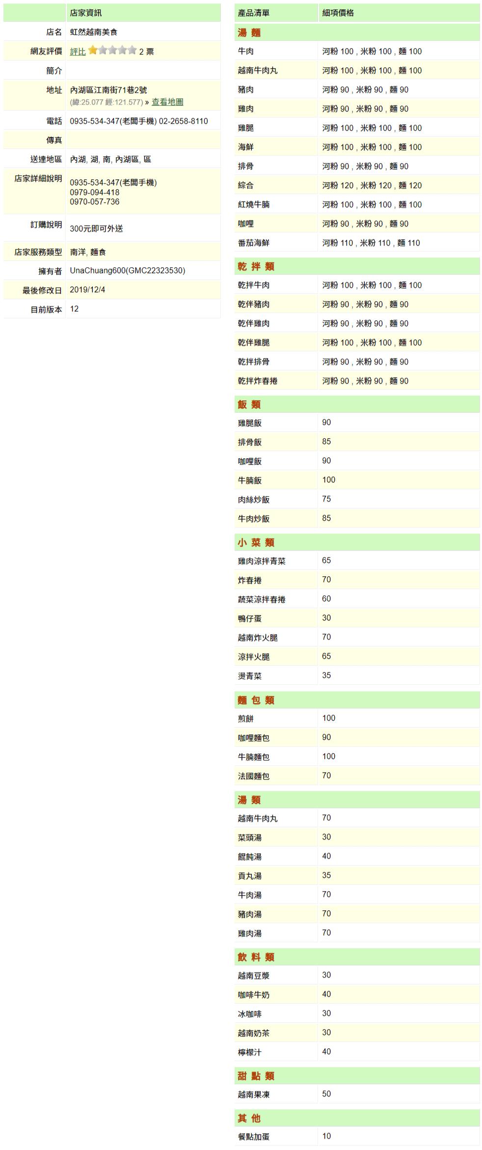 【內湖 訂便當日記】虹然越南美食 2