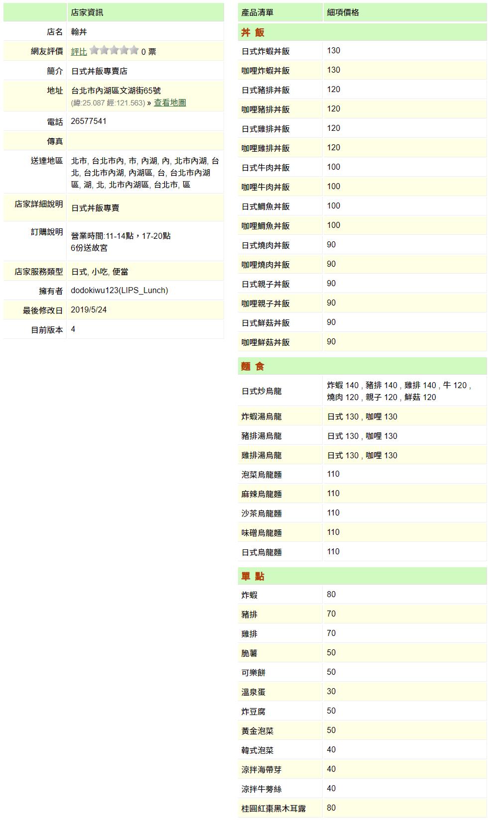 【內湖 訂便當日記】翰丼 2